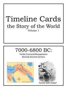 FREE Printable Story of the World (Volume Timeline Cards - Homeschool Giveaways World History Lessons, Study History, Mystery Of History, Teaching History, Women's History, British History, American History, Native American, History Quotes