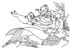 26 The Little Mermaid printable coloring pages for kids, Kids love cartoon and they totally get involved when they see them on television or in papers