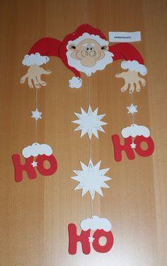 """Fensterbild,Weihnachtsmann Mobile,HO,HO Kette, Tonkarton,Deko,Weihnachten,Winter FOR SALE • EUR 4,50 • See Photos! Herzlich willkommen zu dieser Auktion ... Ich biete hier eines meiner selbst gebastelten Fensterbilder an; *** """"HO HO HO"""" ***** Weihnachtsmann Mobilé/Kette **... liebevoll aus Tonkarton gebastelt u. bemalt ... 302507110376"""