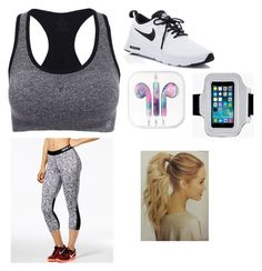 """Workout"" by olivia-huffer on Polyvore featuring NIKE and Boohoo"