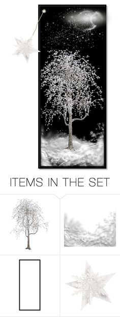 """Bookmark: Winter night"" by louvillia ❤ liked on Polyvore featuring art"