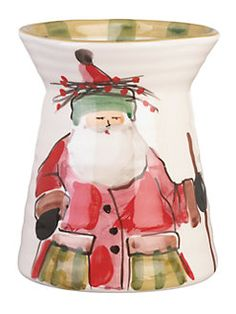 VIETRI The Old St Nick Utensil Holder features the hand-painted designs of maestro artisan Alessandro Taddei. Utensil Caddy, Utensil Holder, Red Yellow Turquoise, Blue Green, Mother Daughter Trip, White Clay, Paint Designs, Crock, Old Things