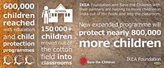 Childhood is sacred and my heart hurts to think of those children who are forced into child labor. I love that the IKEA Foundation is helping to end child labor. AD