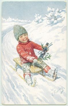 Gerald sledding before his accident
