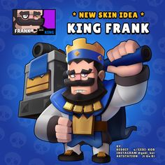 New Skin Idea King Frank u/gedi_kor Clash Royale, Star Character, Star Wallpaper, Free Gems, Star Art, New Skin, Clash Of Clans, Play, Sherlock Holmes
