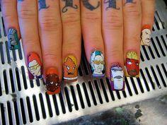 Aqua Teen Hunger Force Nail Art - #1 in tha hood, G