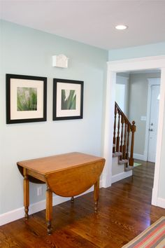 Palladian Blue by Benjamin Moore valspar tranquility - Not sure I like it as well here. Room Paint Colors, Interior Paint Colors, Palladian Blue Bathroom, Kitchen Wall Colors, Interior Design Living Room, House Colors, House Design, Palladian Blue Benjamin Moore, Gossamer Blue