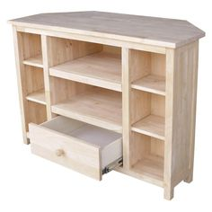 International Concepts Corner Entertainment TV Stand