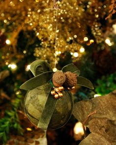 Tissue Paper-Covered Ball Ornaments