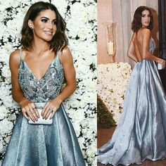 2017 Long Prom Dress, Blue Prom Dress, Sexy Prom Dress, Formal Evening Dress  Contact me: modseley.com@outlook.com please email which color you want after or before you place the order. Also you can put down your color or size or date requirement in the note box when you check out.  1. Be