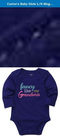 Carter's Baby Girls L/S Slogan - Fancy,Violet,Newborn. Carters L/S Slogan - Fancy Carter's is the leading brand of children's clothing, gifts and accessories in America, selling more than 10 products for every child born in the U.S. The designs are based on a heritage of quality and innovation that has earned them the trust of generations of families. .