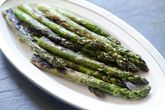 I just love asparagus. And it's so simple.  Although rather than boil it, I roast it in the oven with a little olive oil, then add the cheese and lemon zest after.