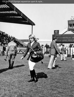 Vintage Olympic showjumping photo from the FEI's new history website. Love the 70's equestrian style!