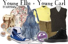 "Ellie From Up Costume Ideas | Young Ellie + Young Carl"" by lalakay liked on Polyvore"