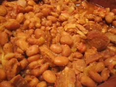 With linguica. Eaten with a nice piece of french or sourdough bread for dunking. With linguica. Eaten with a nice piece of french or sourdough bread for dunking. Portuguese Beans Recipe, Portuguese Recipes, Portuguese Food, Portuguese Lessons, Portuguese Language, Slow Cooker Recipes, Crockpot Recipes, Cooking Recipes, Linguica Recipes