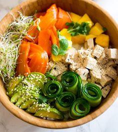 Porkkala poke bowl - täydellistä foodprep ruokaa!