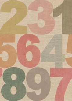 6fc94806e Rainbow Numbers wallpaper by Linwood Number Wallpaper