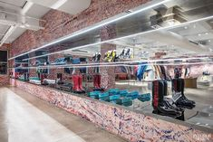 These store columns - Calvin Klein's NYC Showroom Re-Envisioned by Architecture Research Office and Sterling Ruby