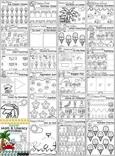 Summer Preschool Worksheets Preview