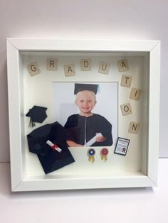 Box frame for nursery graduation x