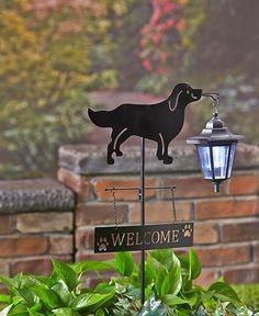 METAL DOG SOLAR LIGHT OUTDOOR LANTERN BEAGLE WELCOME SIGN OUTDOOR HOME DECOR #TBD