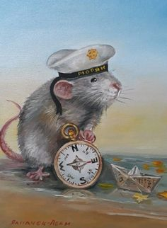 Illustrations, Children's Book Illustration, The Pirates, Mosaic Pictures, Cute Mouse, Cross Stitch Animals, Cross Paintings, Watercolor Animals, Cute Drawings