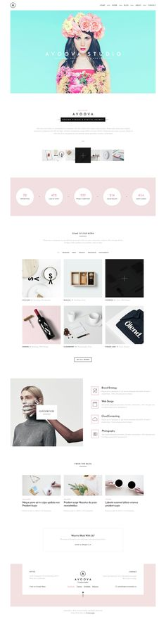 Avoova is a clean and #minimal template with a simple color make it looks sleek and modern suitable for digital agency, studio, portfolio, designer etc. Avoova designed is modern & unique also perfectly organized #PSD #Template .