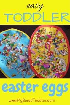 Easter Crafts For Toddler Easy Eggs From MyBoredToddler
