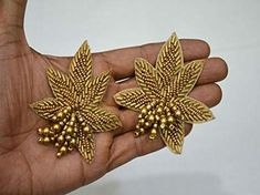 6 Pieces Bronze Indian Beaded Patches Embroidery Sew on Patch Decorative Patches Denim Patch Applique HandCrafted Appliques Crafting Bead Embroidery Patterns, Hand Work Embroidery, Bead Embroidery Jewelry, Embroidery Patches, Hand Embroidery Designs, Embroidery Applique, Beaded Embroidery, Rhinestone Appliques, Applique Design