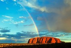 Rainbow Hits Ayers Rock, Australia