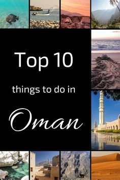 Want to explore the Sultanate? Here are 10 of the top things to do in Oman - Exploring the Grand Mosque, watching sunrise in the desert, wild camping, climbing on top of a fort... Check out the videos, photos and planning info: http://www.zigzagonearth.com/oman-best-things-to-do/
