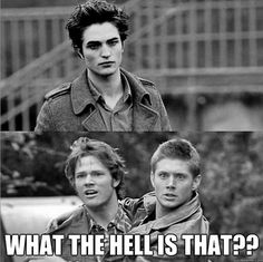 LOL. That is a completely in character response too. But Dean would say it would say that in his gravelly voice of his.