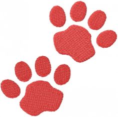 TWO STAGGERED PAW TRACKS embroidery design