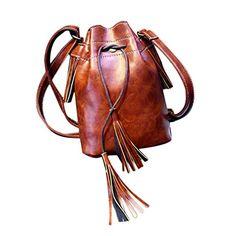 429e75cd7be9 HANYI New Women Handbag Shoulder Bag Tassel Messenger Hobo Bag Purse  Satchel (Black)