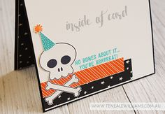 By Teneale Williams | Stampin'Up! Artisan Blog Hop | Howl-o-ween Treat Birthday Card