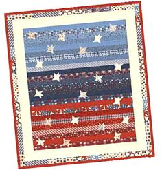 jellyroll quilt with stars added