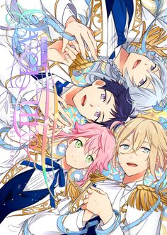 I ALMOST got a poster with them in their salior coustumes ; Anime Music, Anime Art, Me Me Me Anime, Anime Guys, Kyoto Animation, Boy Character, Room Posters, Ensemble Stars, Manga