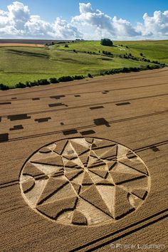 Crop Circle at Hackpen Hill, nr Broad Hinton. Wiltshire. Reported 8th July 2017