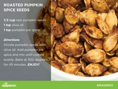 Pumpkin Spice and everything nice! Enjoy the flavors of fall with this delicious Roasted Pumpkin Seed recipe!