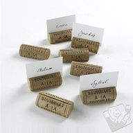 'Cork place holders - great for a wine & cheese pairing party, nice for a wedding Wine Cheese Pairing, Wine And Cheese Party, Cork Place Cards, Wine Corker, Place Holder, Wine Cork Crafts, Wine Craft, Wine Parties, Decoration Table