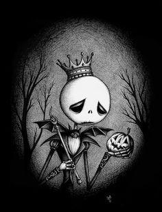 The Pumpkin King's Lament, Seb Mesnard. via the Little White Bat
