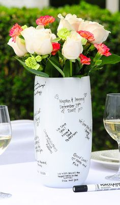 Tell mom how much you love her or write her a poem on this keepsake vase :)