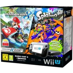 Pack Nintendo Premium Console Wii U + Mario Kart 8 + Code Splatoon
