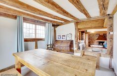 Traditional English farmhouse with converted oast house near Darling Buds Of May village English Farmhouse, English Cottage Style, Darling Buds Of May, Wooden Steps, Timber Beams, Maine House, Two Bedroom, Mail Online, Daily Mail