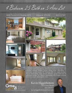 NOW #PENDING Cheers to Kevin Higginbottom  4 bedroom, 2.5 Bath on .5 acre lot. Light and bright kitchen with tile backsplash and honey cabinets and island.   MLS # 1137897  http://1860871stavcte.c21.com/