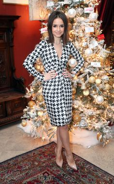 J'adore that houndstooth dress!  Miroslava Duma.
