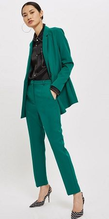 Suit Jacket and Trousers Set - Workwear & Suits - Clothing - Topshop Casual Summer Wedding Attire, Costume Vert, Interview Suits, Green Suit, Green Pants, Teal Green, Suit Vest, Suit Pants, Topshop Style