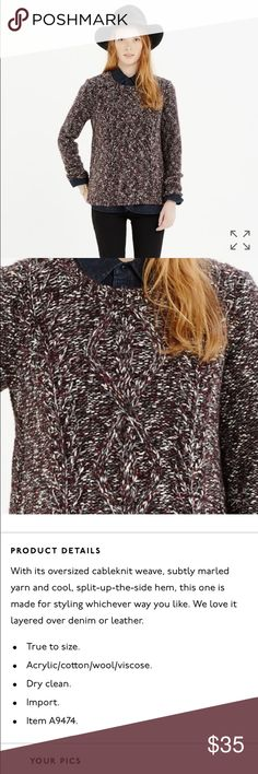 Madewell Firelight Marled Pullover See description above. No trades, no modeling please. Offers through the offer button! Thanks for shopping & check out bundle sales! Madewell Sweaters Crew & Scoop Necks