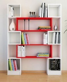 Bookshelves Decorating Ideas for Living Room Book Shelf Decorating Idea & Tip Bookshelves Decorating Ideas for Living Room. If you have bookshelves in your home, and lots of books, you've… Diy Furniture, Modern Furniture, Furniture Design, Bookshelf Design, Bookshelves, Deco Design, Home Projects, Diy Home, Shelving