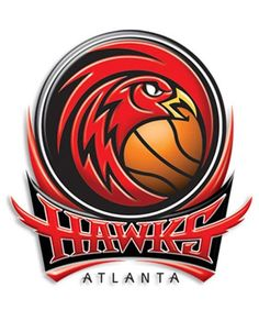 """The Atlanta Hawks are not playing the Indiana Pacers laying down the """"Yellow Pacer Road"""" or Rose Pedals but trying to make it a series. Hawk Logo, Misery Loves Company, Cool Swords, Sports Team Logos, Georgia On My Mind, Nba Champions, Atlanta Falcons, Funko Pop Vinyl, Golden State"""